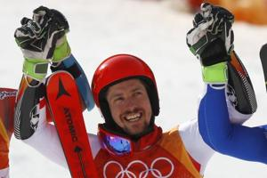 2018 Winter Olympics: Marcel Hirscher claims double with giant slalom...