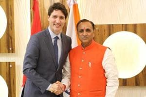 Justin Trudeau meets Rupani in Ahmedabad, discusses cooperation in...
