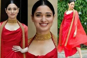 Tamannaah Bhatia stands out in fun, flirty, sure-to-be-noticed red...