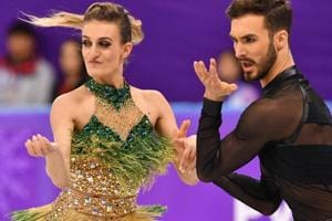 French skater Gabriella Papadakis suffers wardrobe malfunction at...