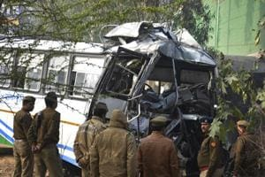 Driver killed, 40 injured, as Rajasthan roadways bus rams into truck...