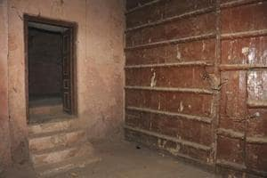 Police cell in Punjab's Jaitu where Nehru was kept in 1923 to be...