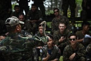 Surviving in jungle: Marines drink cobra blood, eat scorpions in...