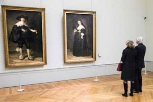 French, Dutch teams unveil restored 7th century Rembrandt portraits