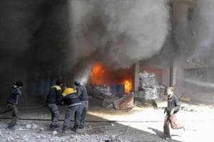Nearly 200 dead in Syria air strikes as UN warns situation 'out of...