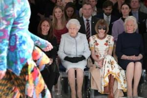 Britain's Queen Elizabeth II makes surprise visit to London Fashion...