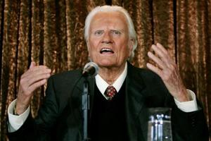 'God's Machine Gun' Billy Graham, preacher and adviser to US...