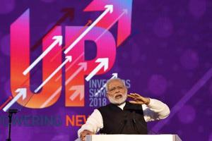 Prime Minister Narendra Modi speaks at