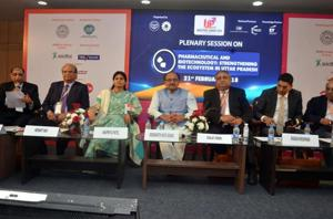 Health minister Siddharthnath Singh at the summit.