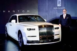 Rolls-Royce Asia Pacific Regional Director Paul Harris at the launch of 8th generation Phantom priced up to Rs 11.35 crore in Chennai on Thursday.