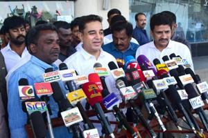 Kamal Haasan launches his party in Madurai.