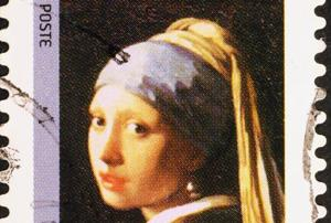 Famous painting 'Girl with Pearl Earring' by Dutch painter Johannes...
