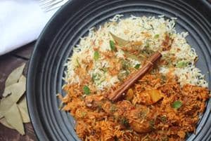 Khoja chicken biryani is meaty and spicy and often slow-cooked for over three hours.