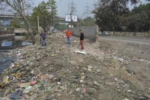 After the resident moved the NGT against the illegal dumping (below) inSector 3, the activity has temporarily stopped.