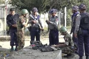 Several bombs set off around troubled Myanmar state, one injured