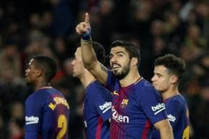 Luis Suarez hat-trick extends Barcelona's lead in La Liga, Real Madrid...