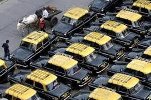 Mumbai has more than 56,000 cabs, including blue-silver air conditioned cool cabs.