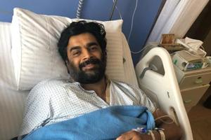 Actor R Madhavan posted this picture, revealing that he underwent shoulder surgery recently.