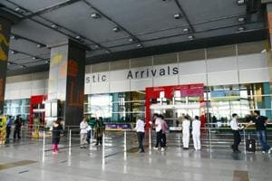 A view of the domestic arrival gate at IGI's T3. The flight proceeded to Islamabad from New Delhi  to drop off the Pakistani nationals, a CISFofficial said.