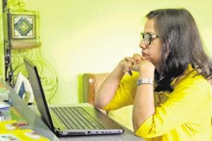 Poet Divya Jain working on her new collection of ghazals.