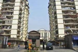 The 14-year-old girl fell from the balcony of her sixth floor apartment in Shipra Krishna Vista, Ghaziabad, early Tuesday.