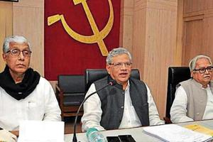 After 25 years in power, CPM-ruled Tripura headed by CM Manik Sarkar (extreme left) is facing a tough fight from the BJP.