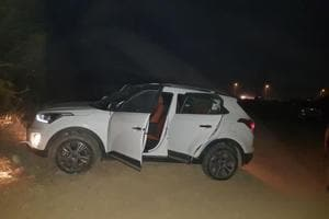 The Creta car the duo was travelling in.