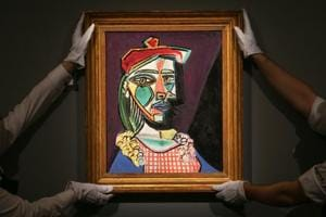 Picasso painting of muse, future lover fetches European record £50 mln