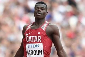 Abdalelah Haroun of Qatar (in pic -- file image)was the first to get disqualified as a false start while file others were disqualified for running in the wrong lanes during the men's 400m heats at the IAAF World Indoor Athletics Championships inBirmingham on Friday.