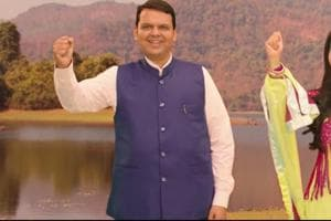 Chief minister Devendra Fadnavis and his wife Amruta in the river anthem video.