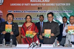 The BJP leads in over 10 seats in Nagaland and will hold the key to formation of the new government in  the state.