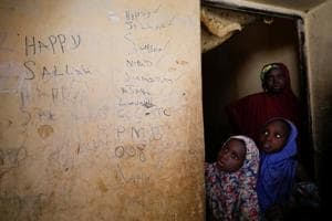 Photos: Parents of schoolgirls abducted by Boko Haram left with...