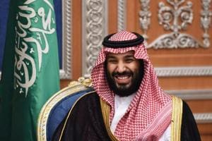 In this file photo taken in November 2017, Saudi crown prince Mohammed bin Salman is een attending a meeting with Lebanon