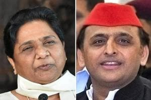 BSPchief Mayawati and former UPchief minister AkhileshYadav.