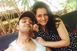 Actor Sourabh Raaj Jain with wife Ridhima.