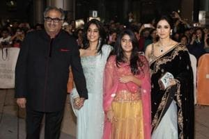 Boney Kapoor, daughters Jahnvi and Khushi immerse Sridevi's ashes in...