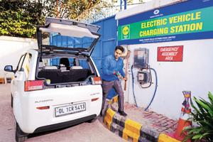 Free for all , Electric Vehicle Charging Station by TATA Power Delhi Distribution Limited , Maurice Nagar