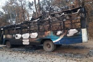 The buses were set on fire at around 9.45 pm on Monday, according to special director general of police, (anti-naxal operations), D M Awasthi.