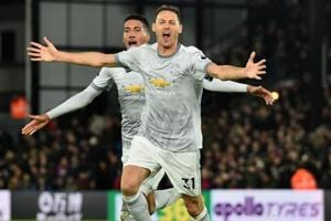 Nemanja Matic volleyed a stunning added-time winner as Manchester...