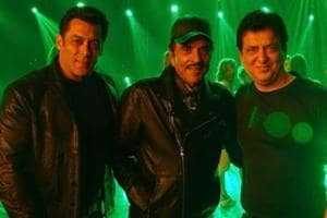 Salman Khan, Dharmendra and Sajid Nadiadwala in one frame. What's...