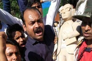 Bhim Rao Ambedkar's statue vandalised in Meerut