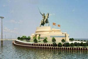 An artist's impression of the Shivaji memorial