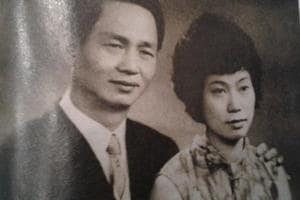 (R) Monica Liu with her husband. Liu, an Indian Chinese, is one of the most successful restauranteurs of Kolkata.