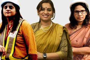 (LtoR) Ashwini Bhide, Nidhi Choudhari and Prajakta Lavangare Verma.