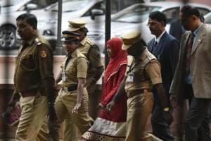 Hadiya outside the Supreme Court after hearing in New Delhi on November 27.