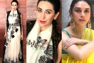 Ready to wear the coolest contemporary saree at the next wedding you attend? Let actors Karisma Kapoor and Aditi Rao Hydari inspire you with their summery looks.