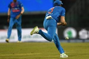 Suresh Raina drops a catch during the second T20 match between Bangladesh and India in Colombo on Thursday.