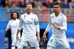 'Nature calls' for Real Madrid captain Sergio Ramos during La Liga...