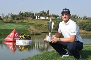 Matt Wallace prevailed in a play-off with Andrew Johnston to win the Indian Open golf title on Sunday.