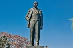 The Lenin statue at Nehru Park is attracting a number of young visitors.